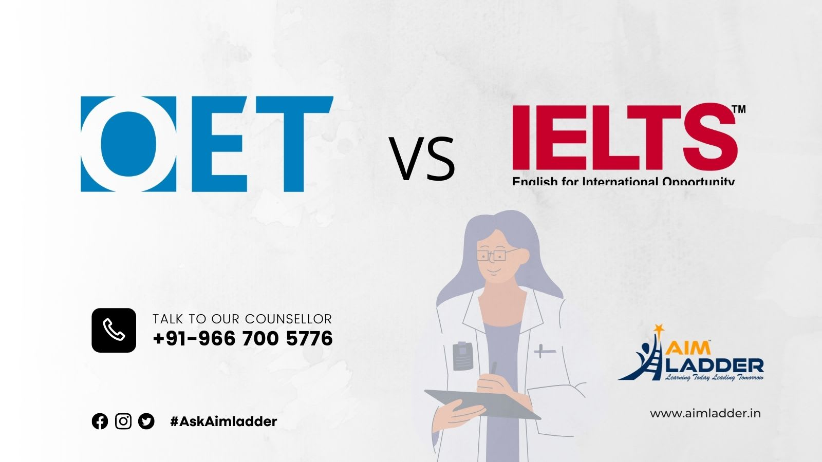 What are the main difference between OET and IELTS?