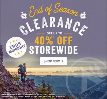 Wild Earth - End of Season clearance