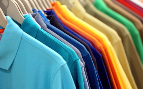 Men's t-shirts with collar and pocket