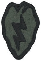 25th ID Foliage Shoulder Patch with Velcro