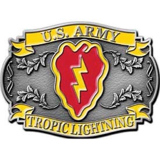 25th Infantry Division Belt Buckle