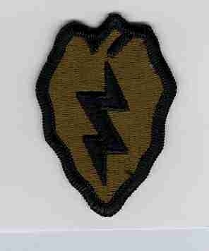 25th ID Subdued Shoulder Patch