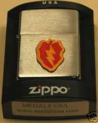 25th Infantry Division Zippo Lighter