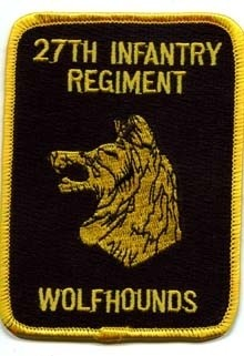 "27th Infantry Regiment Patch ""Wolfhounds"""