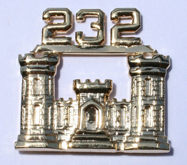 232nd Engineer Castle Pin