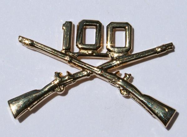100TH Battalion Crossed Rifle Pin