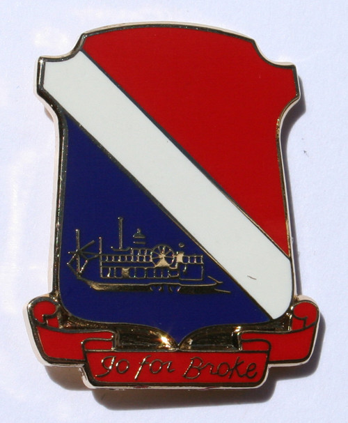 442 RCT Insignia Pin WWII Design