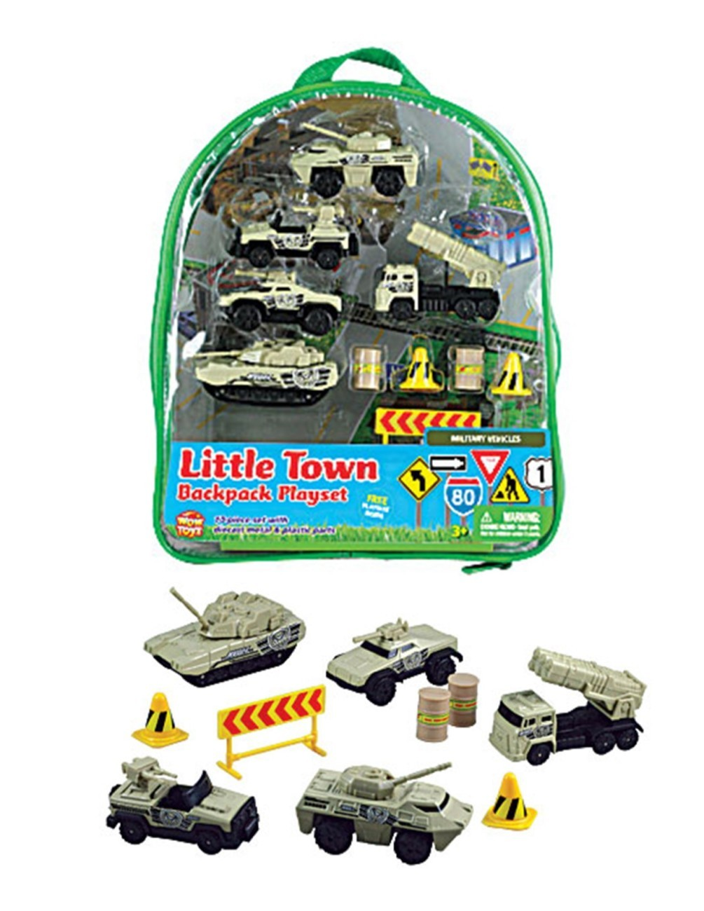 Little Town Military Vehicles Backpack Playset