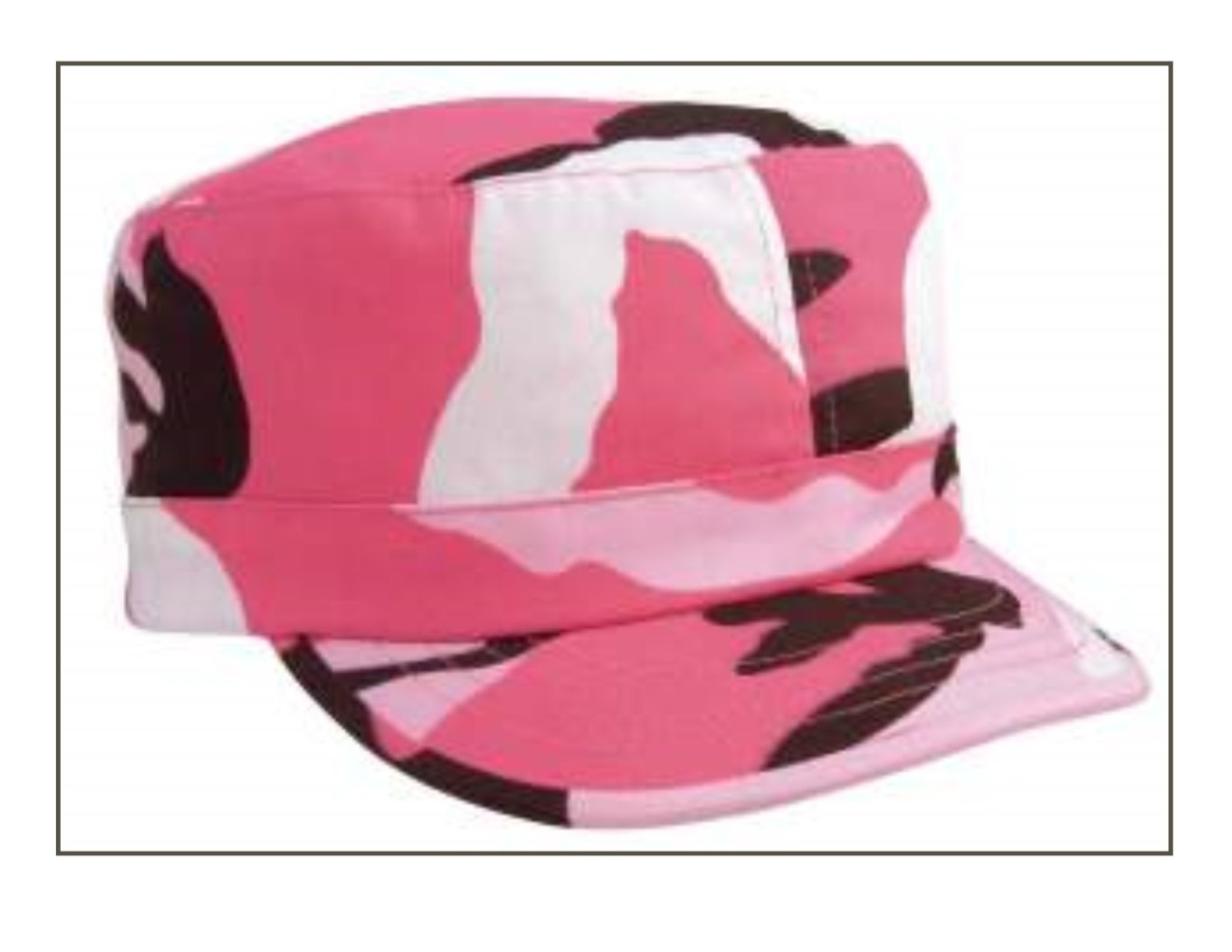 Women's Adjustable Vintage Fatigue Cap - Pink Camo