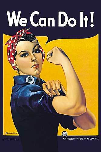 "Rosie the Riveter, ""We Can Do It"" Poster"