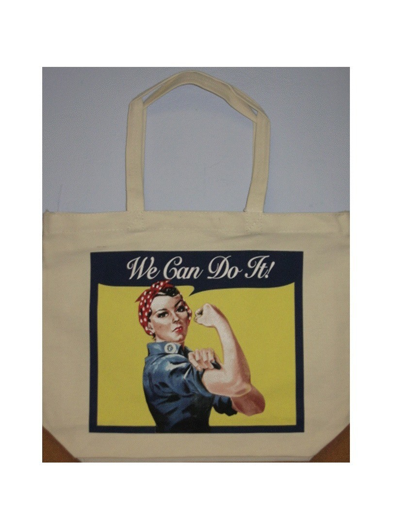 Rosie the Riveter Canvas Tote