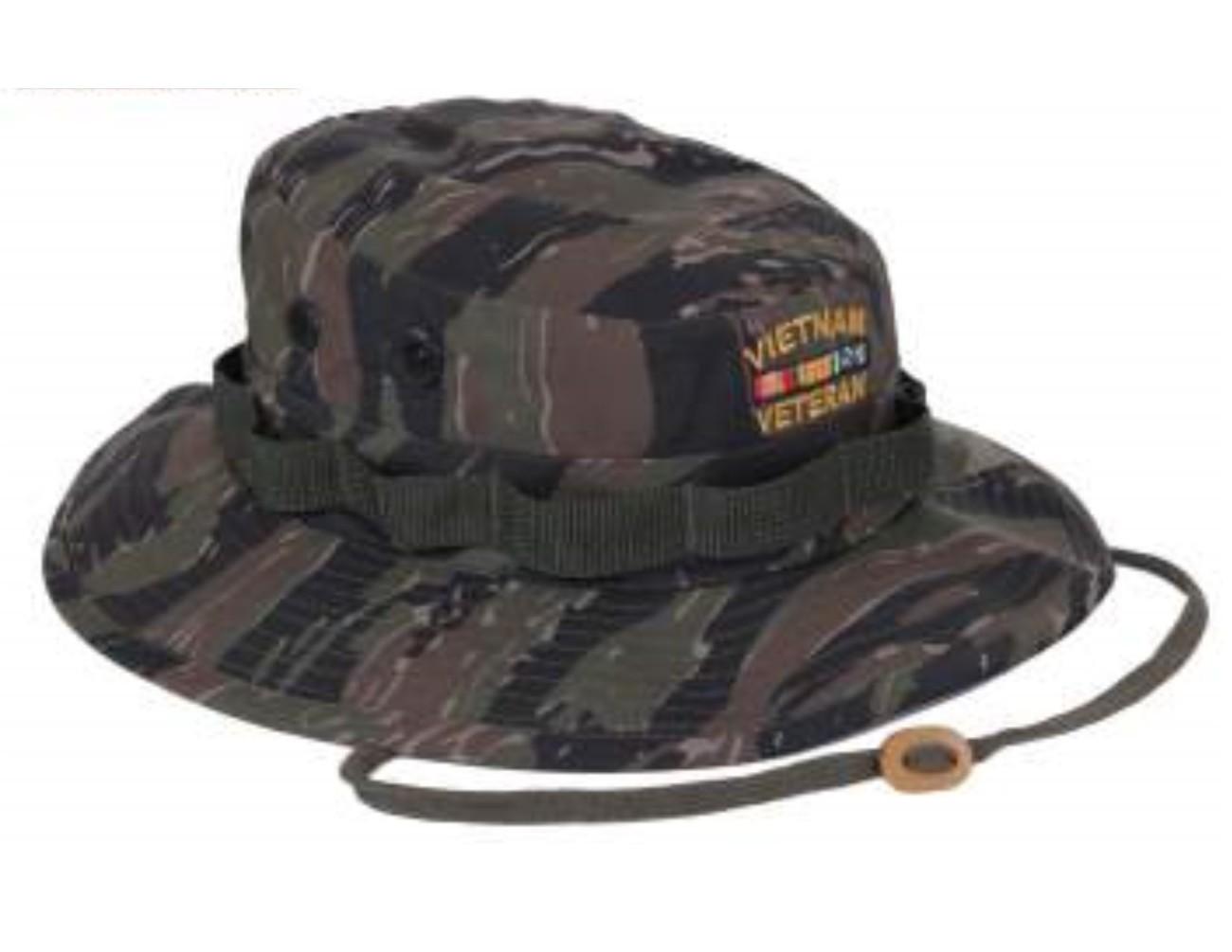 Vietnam Veteran Tiger Stripe Camo Boonie Hat