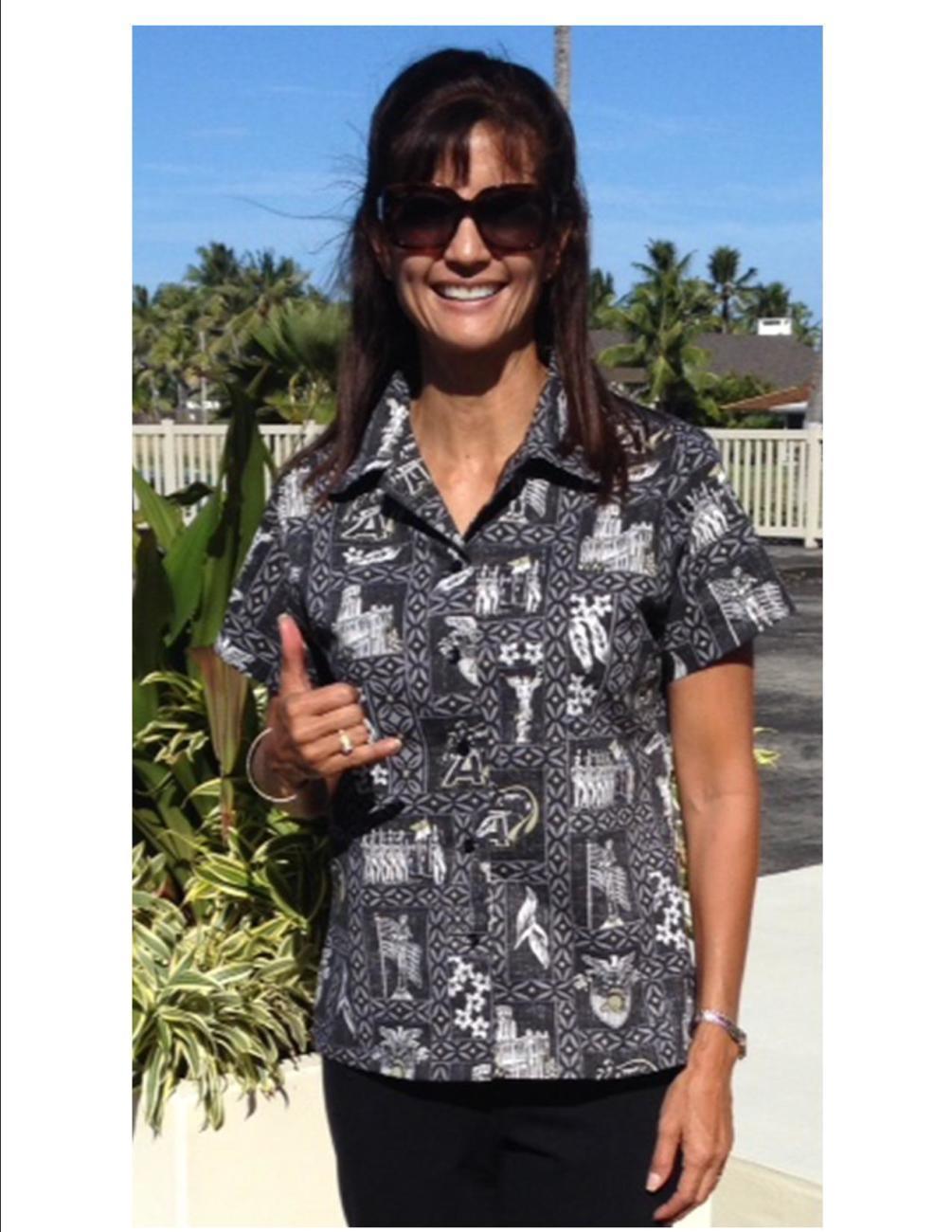 "West Point ""Go Army"" Aloha Shirt - Women"