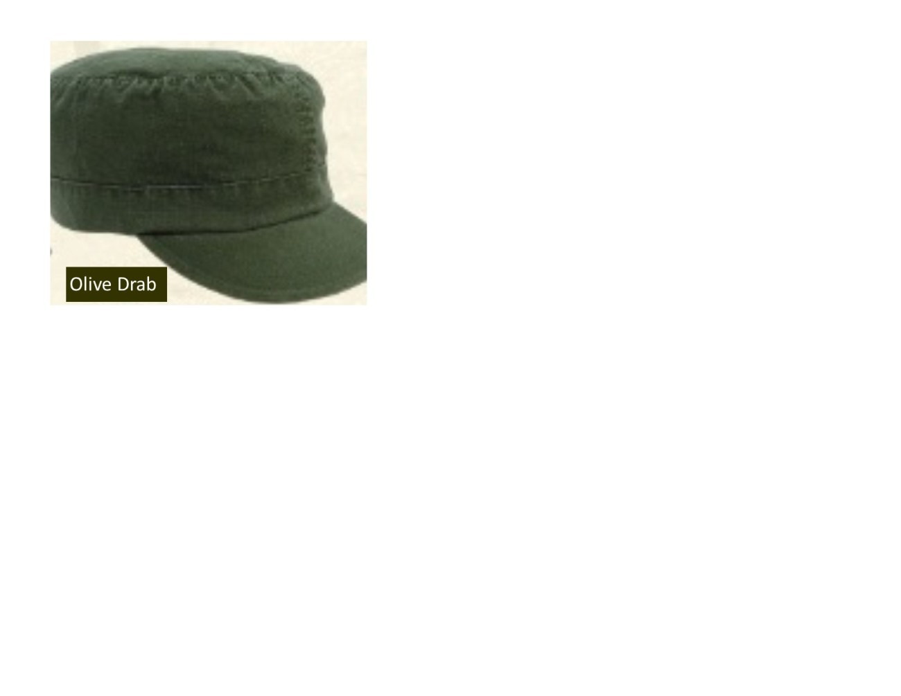 Women's Adjustable Vintage Fatigue Cap - Olive Drab