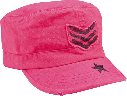 Women's Vintage Fatigue Cap - Pink with Sergeant Stripes & Star