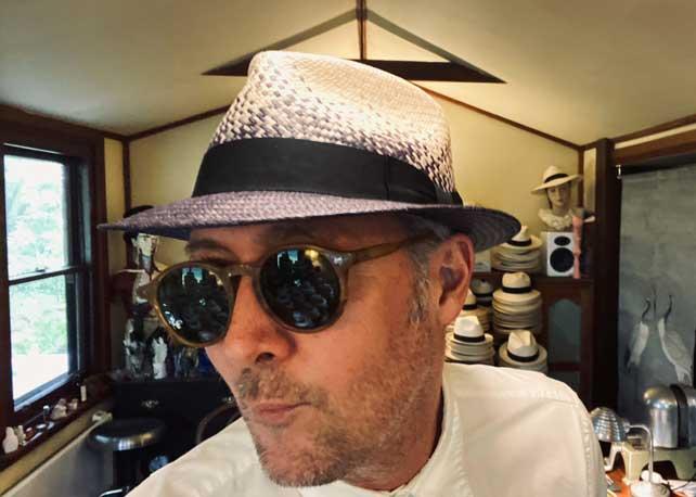 indigo panama hat