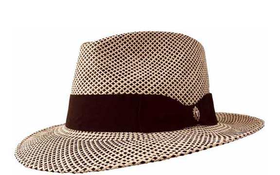 Creme Brulee 3/4 View brown cream panama hat summer straw