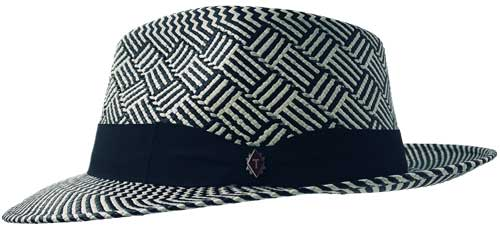 kerouac black white panama hat