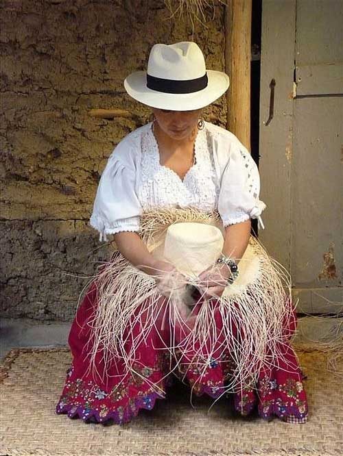 panama weaving hat truffaux