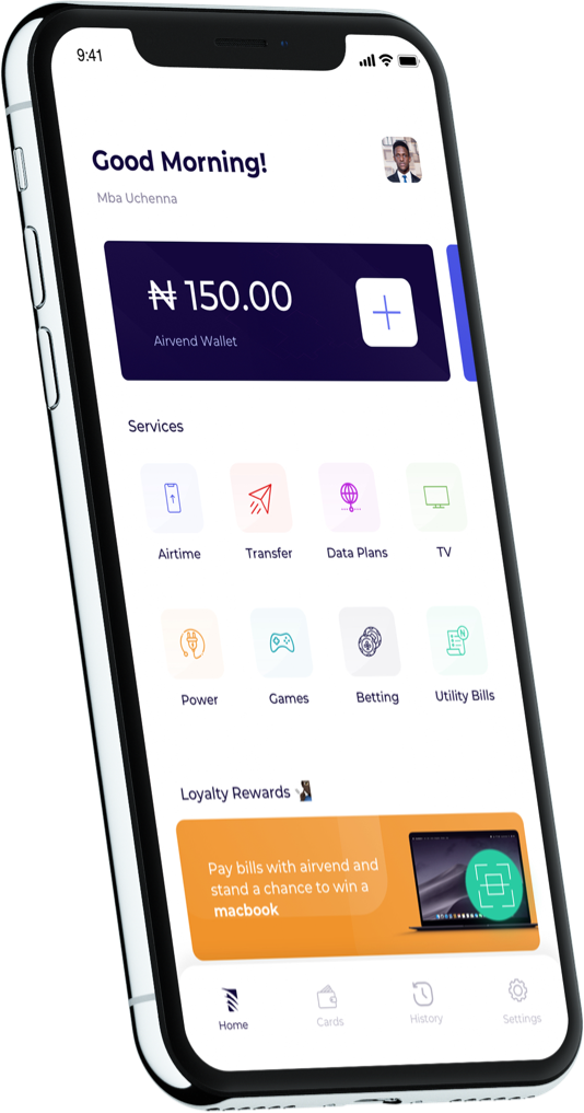 Airvend Mobile App