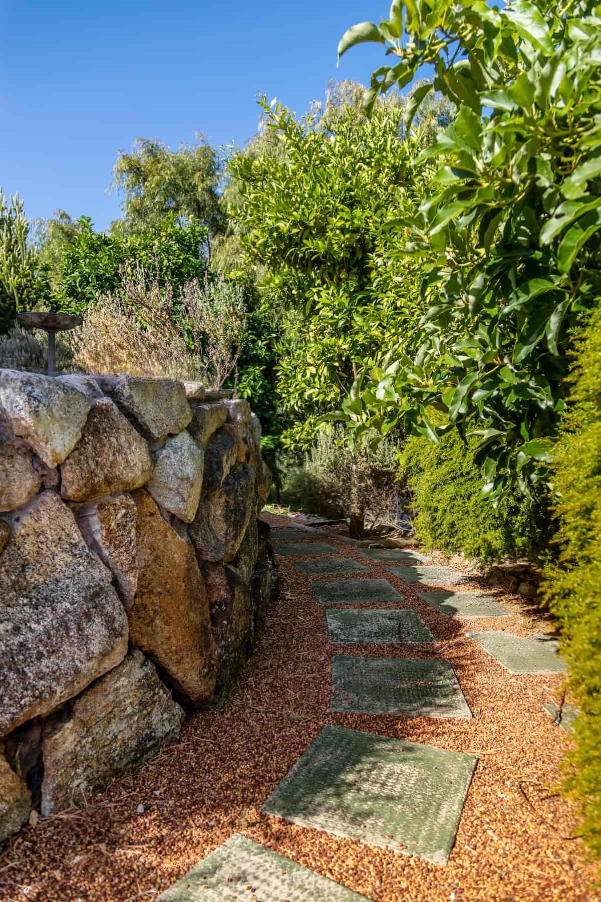 Garden walkway at Gampi