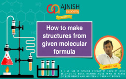 Ways of Makes structures from Given Molecular Formula