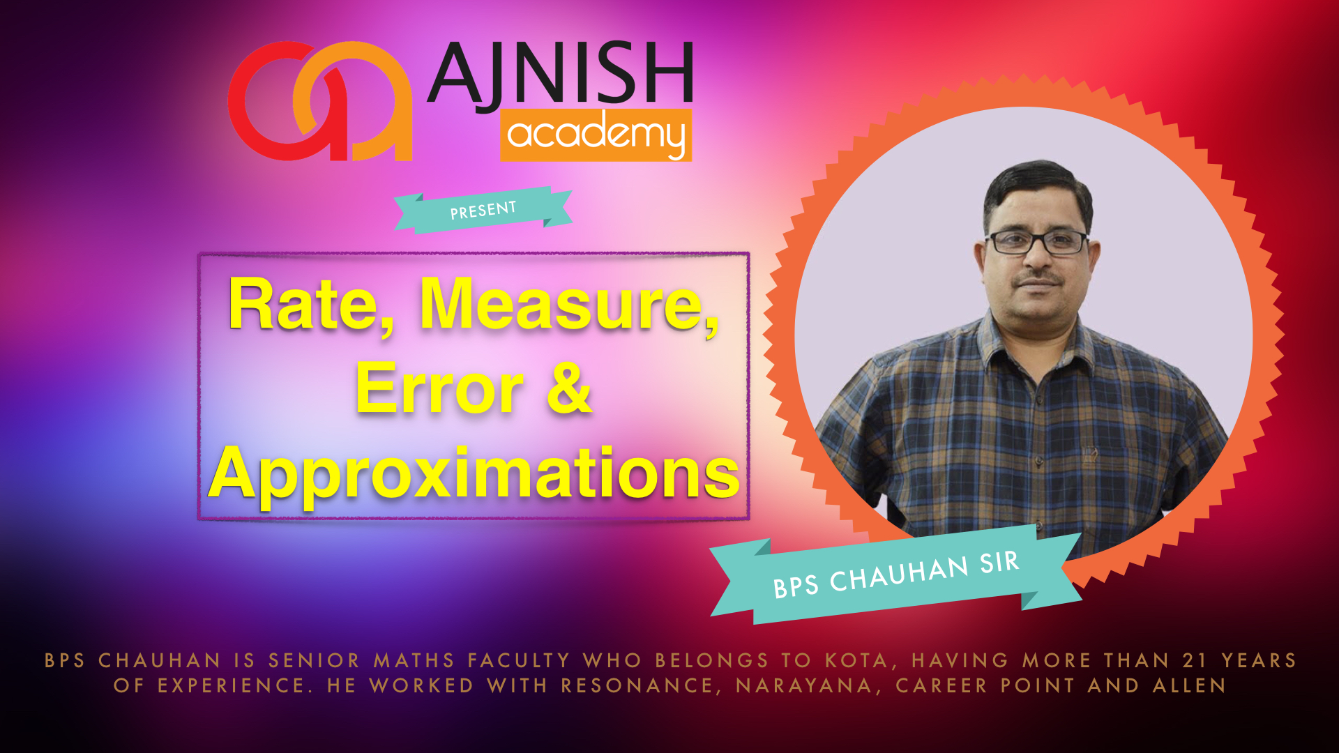 Rate, Measure, Error & Approximation