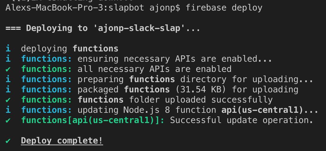 cloud deploy output