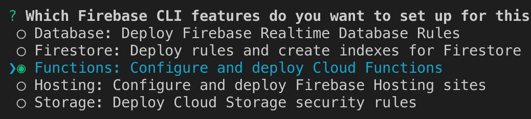 Firebase Functions select