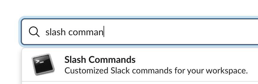 Slash Command Search