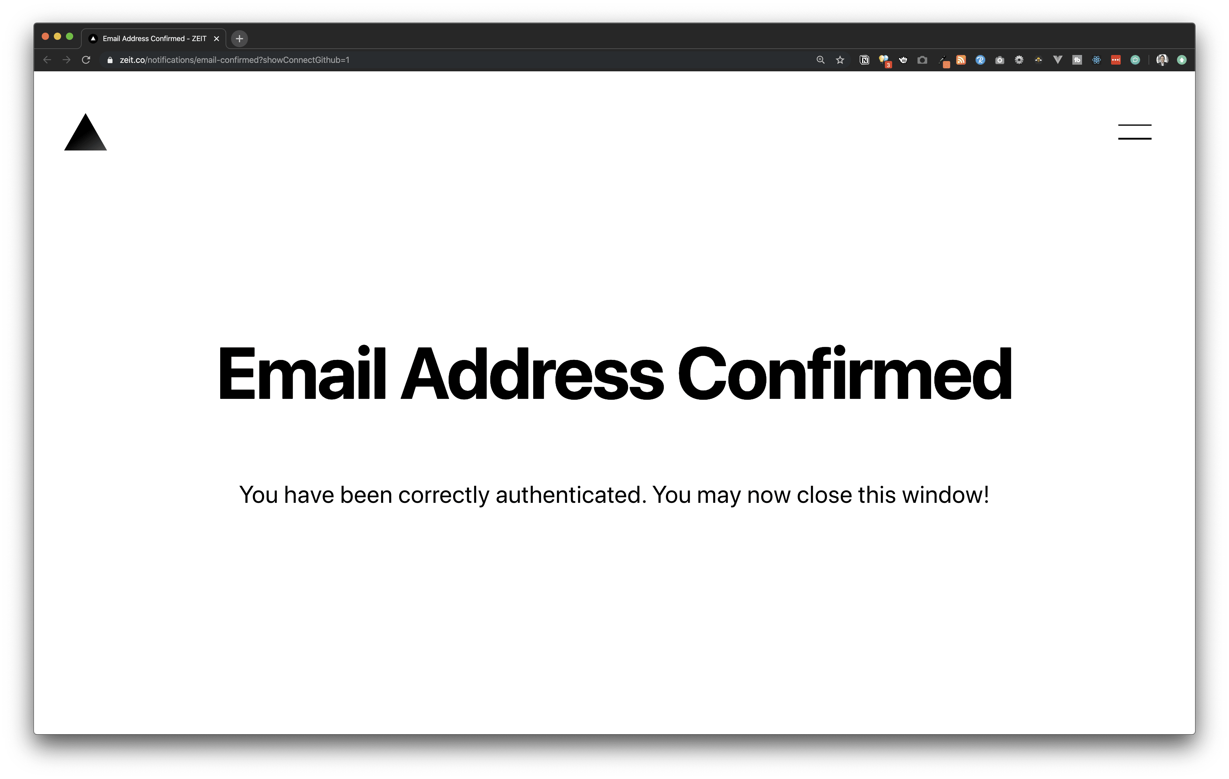 Zeit Login and Email confirmation
