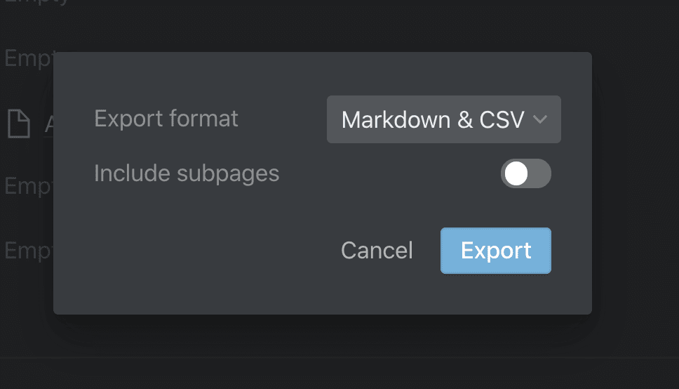 Export to Markdown .md