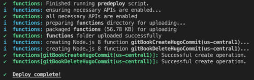Successfully Deploy Functions