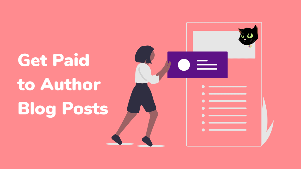 Get Paid to Author, Person pushing blog onto page