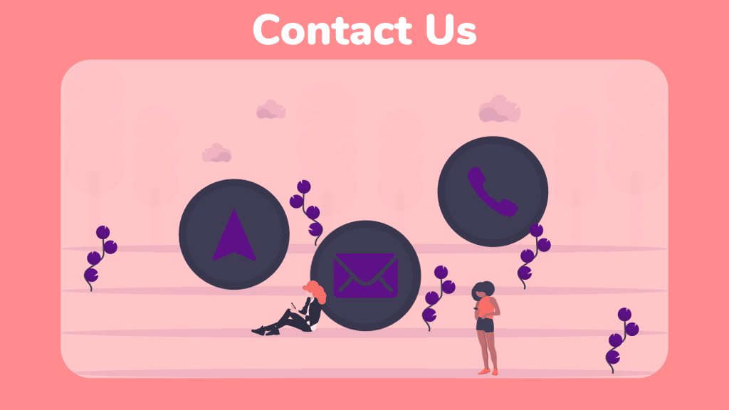 Email and Phone bubbles for contact us