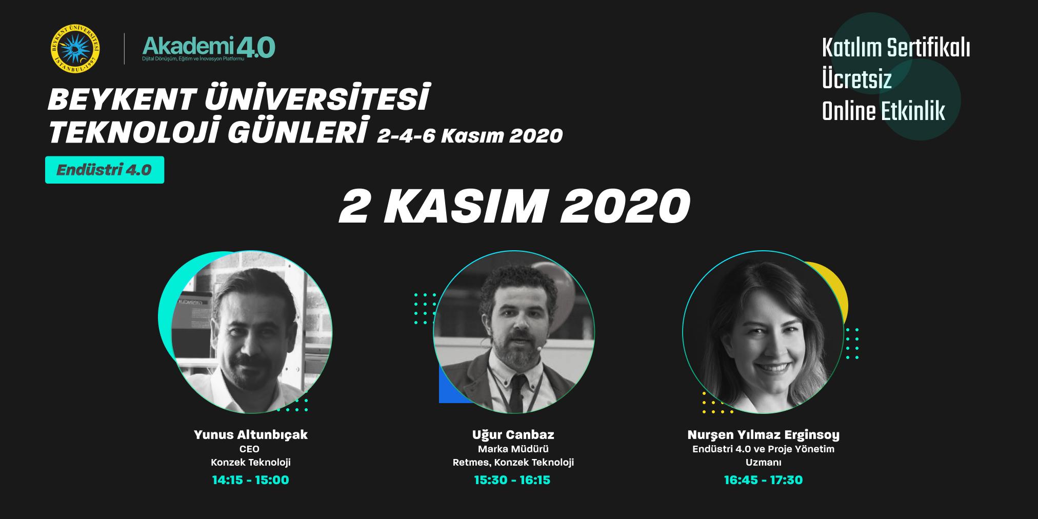 Teknoloji Günleri - Endüstri 4.0, 2 Kasım 2020 Pazartesi