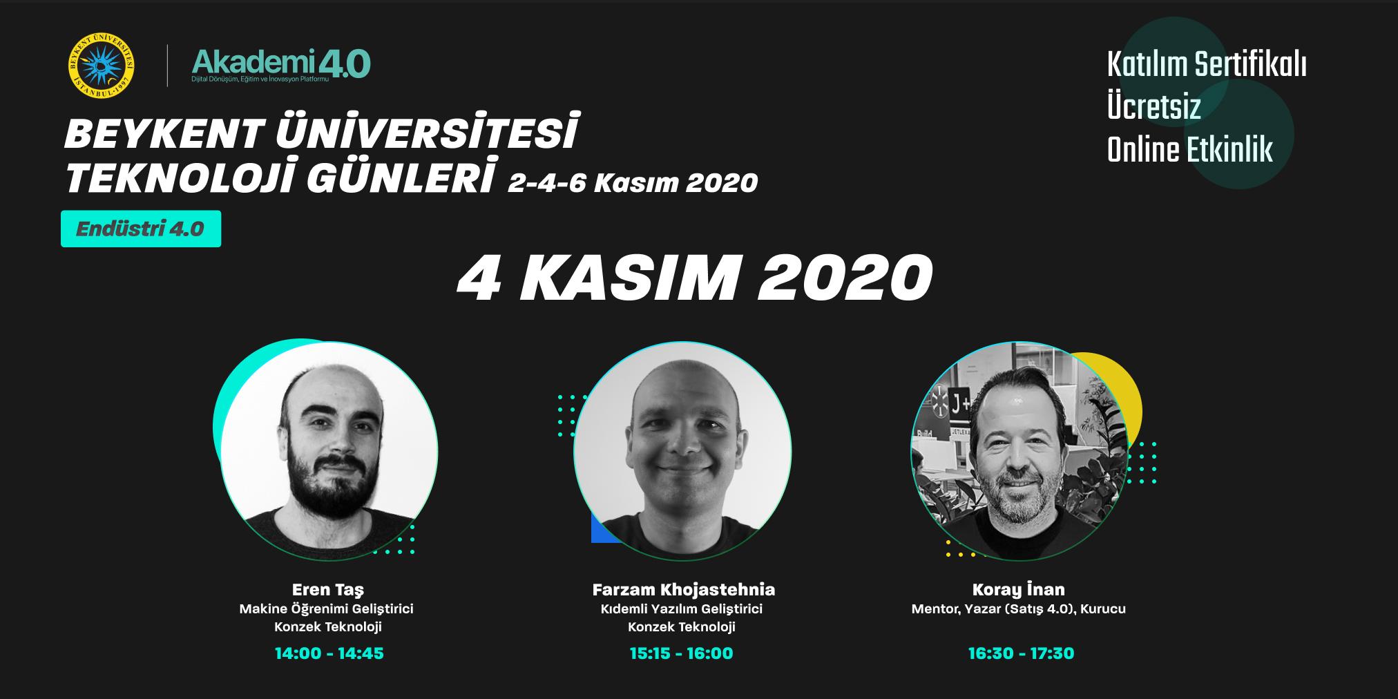 Teknoloji Günleri - Endüstri 4.0, 4 Kasım 2020