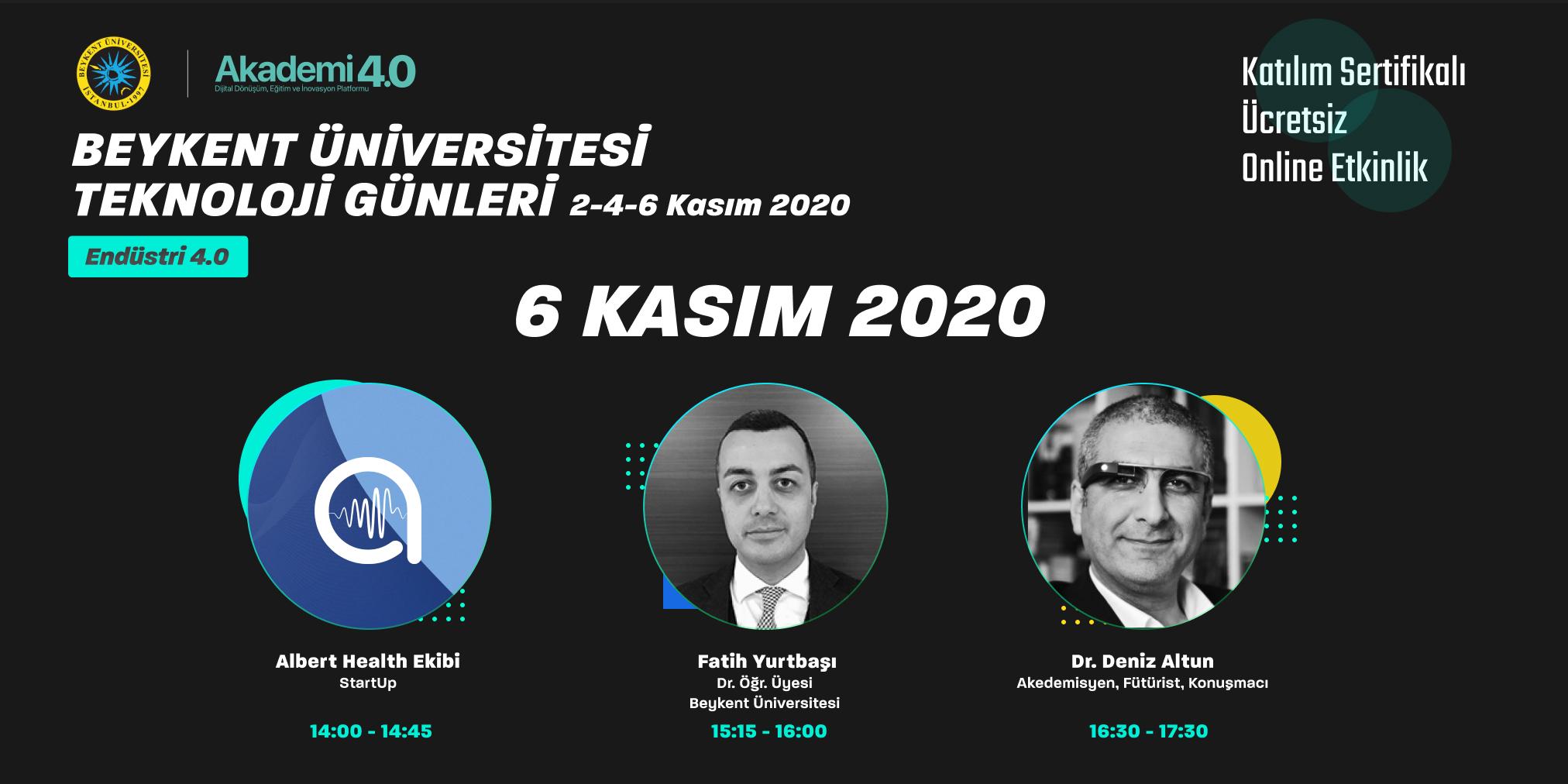 Teknoloji Günleri - Endüstri 4.0, 6 Kasım 2020