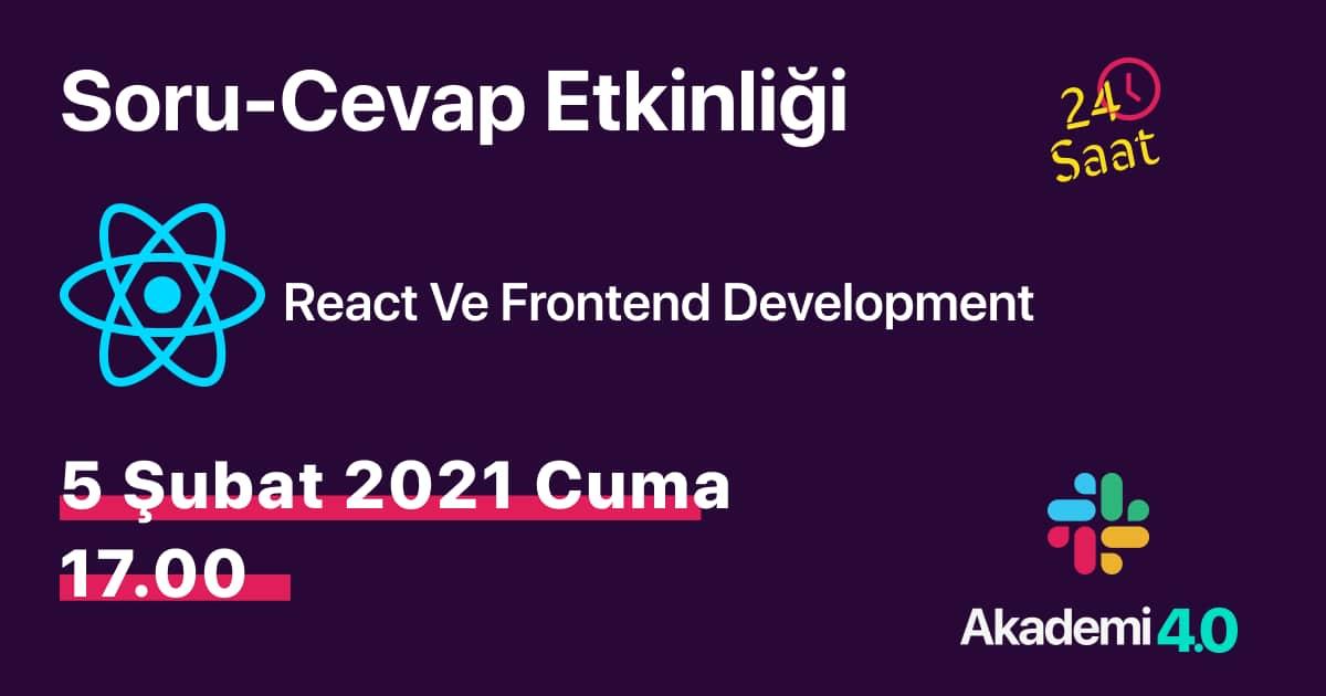 React ve Front-End Development Soru Cevap