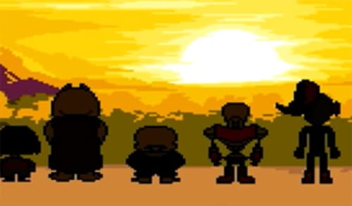"""""""Here."""" FRISK held his little hands out to the surface. """"We're free!""""  Sans looked around at the vast wilderness and sky. """"Wow, we really did it? You really managed to do it, kid. Hey, look at that big ball of fire. That's the sun, right?""""  """"Yep, Sans.""""  """"Wow. Hey, Papyrus, check out the sun.""""  """"It's like a big old ball of firey fire!"""" Papyrus said. """"Wowie! The Sun! I will never forget that name!""""  Toriel asked the little boy if he wanted to stay with her, but he declined, saying there was somewhere else to be. He was asked about being ambassador, but he declined that too.  """"I promise, I will come back to see everyone though."""" FRISK looked over toward Sans. """"I know you didn't care so much about it, but doesn't it feel right to be here?"""" He laughed and patted Sans coat. """"I will never have to reset again!"""""""