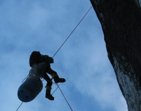 Descending down your abseil ropes
