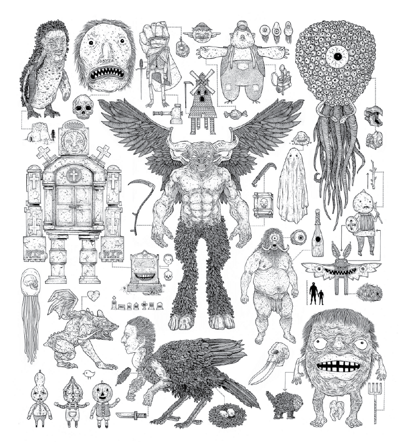 poster with multiple creatures