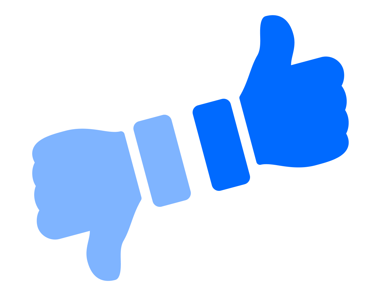 Thumbs up / Thumbs down logotype