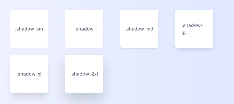 Tailwind box shadow