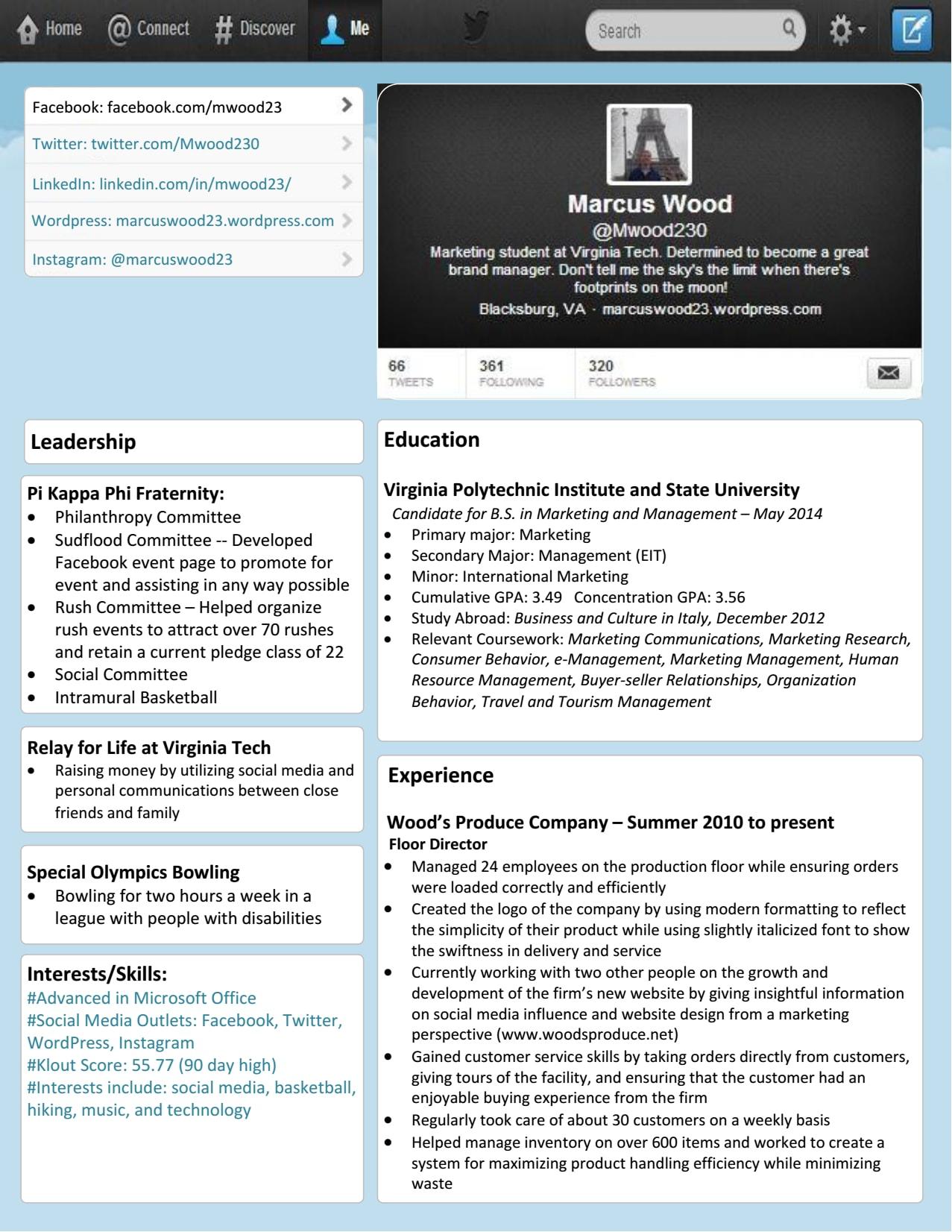 old resume