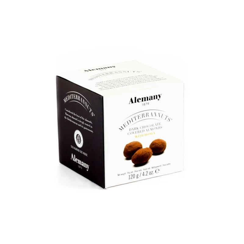 Ametlla Marcona recoberta  xocolata negra   Fruita Seca   Alemany.com