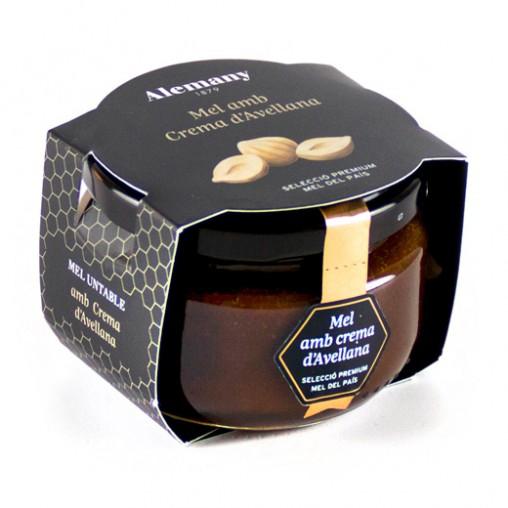 Miel con crema de avellana