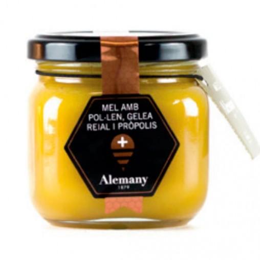 Miel con polen, jalea real...