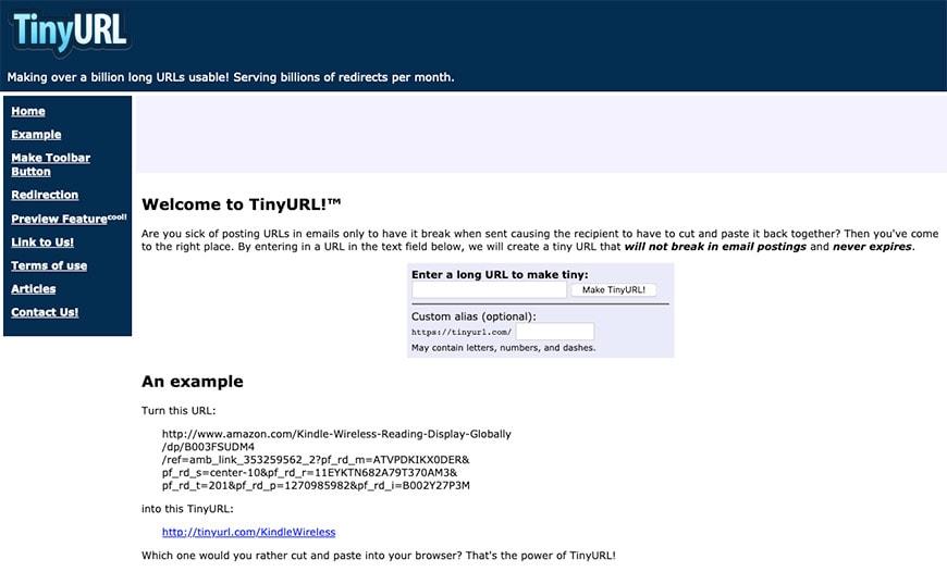 tinyurl short URL