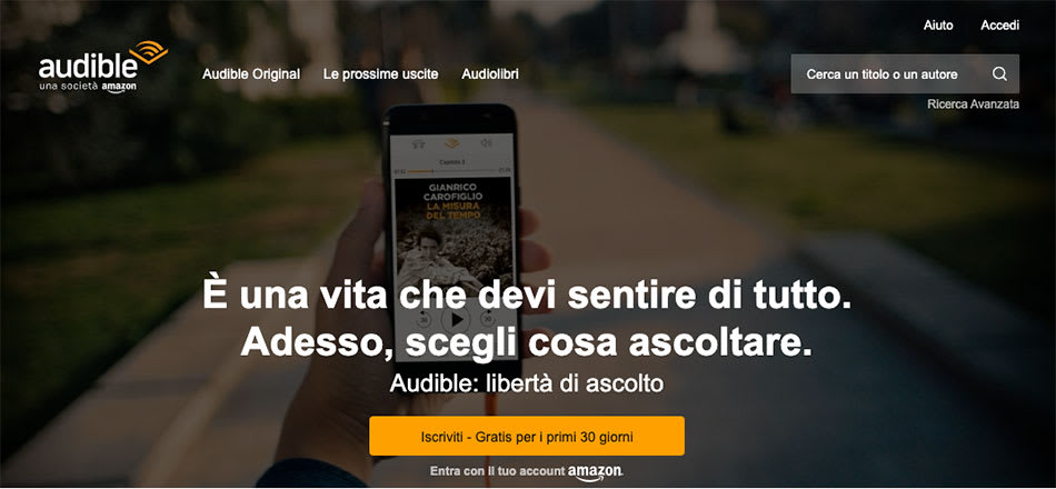 audible home page